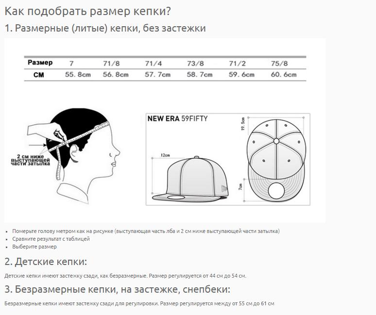 Как подобрать размер кепки или бейсболки